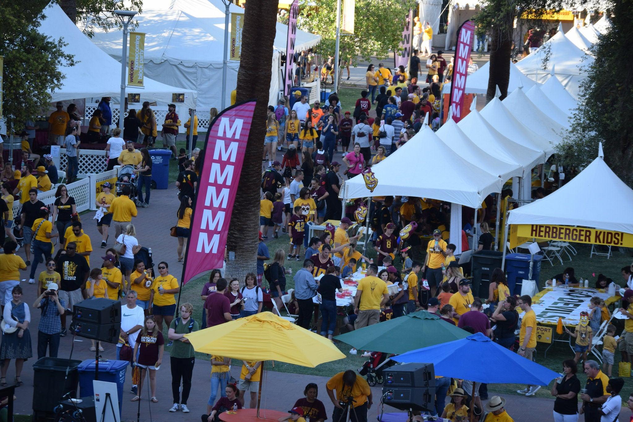 ASU Homecoming Tents